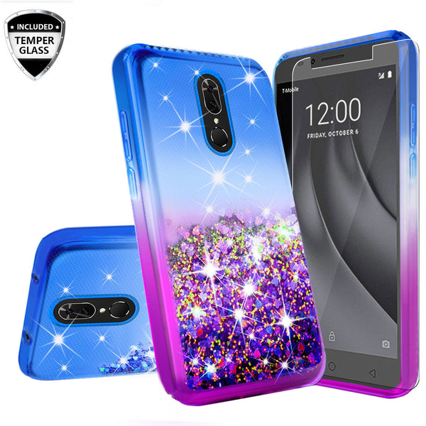 glitter phone case for nokia 3.1 plus - blue/purple gradient - www.coverlabusa.com
