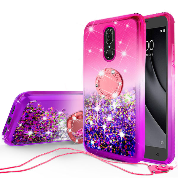glitter phone case for nokia 3.1 plus - hot pink/purple gradient - www.coverlabusa.com