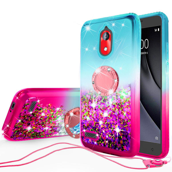 glitter phone case for coolpad illumina - teal/pink gradient - www.coverlabusa.com