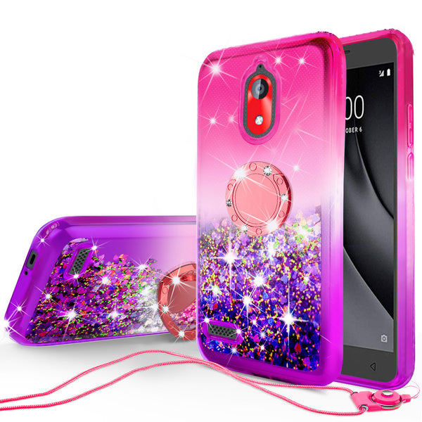 glitter phone case for coolpad illumina - hot pink/purple gradient - www.coverlabusa.com