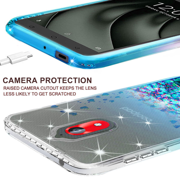 clear liquid phone case for coolpad legacy go - teal - www.coverlabusa.com
