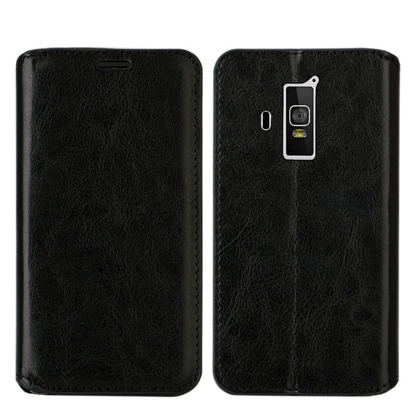 Coolpad Rogue PU leather wallet case - black - www.coverlabusa.com
