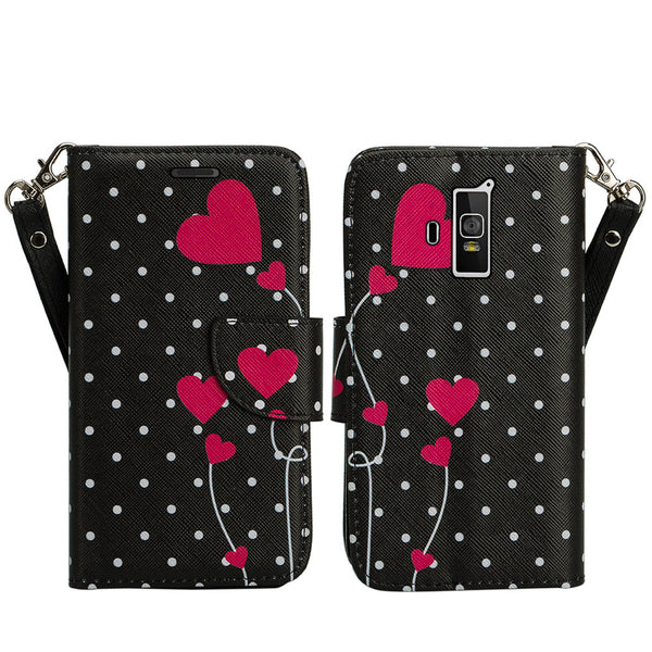 coolpad rogue wallet case - polka dot hearts - www.coverlabusa.com