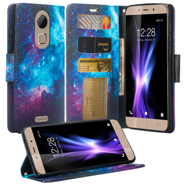 Coolpad REVVL Plus Wallet Case - Cosmos - www.coverlabusa.com