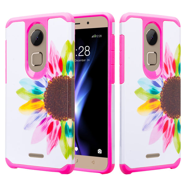 coolpad revvl plus hybrid case - vivid sunflower - www.coverlabusa.com