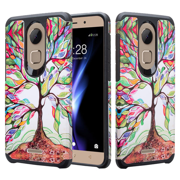 coolpad revvl plus hybrid case - vibrant tree - www.coverlabusa.com