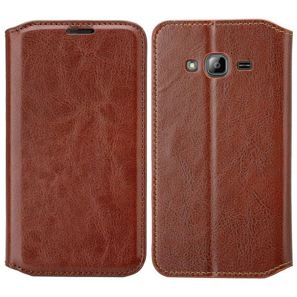 GO PRIME / GRAND PRIME WALLET CASE, Brown leather WWW.COVERLABUSA.COM