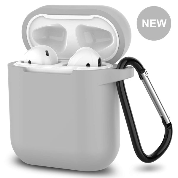 apple airpods charging case silicone cover - www.coverlabusa.com - gray