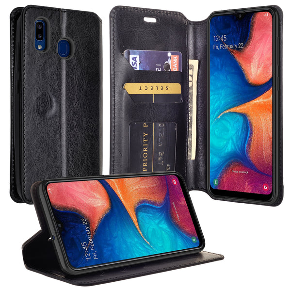 samsung galaxy a10e wallet case - black - www.coverlabusa.com