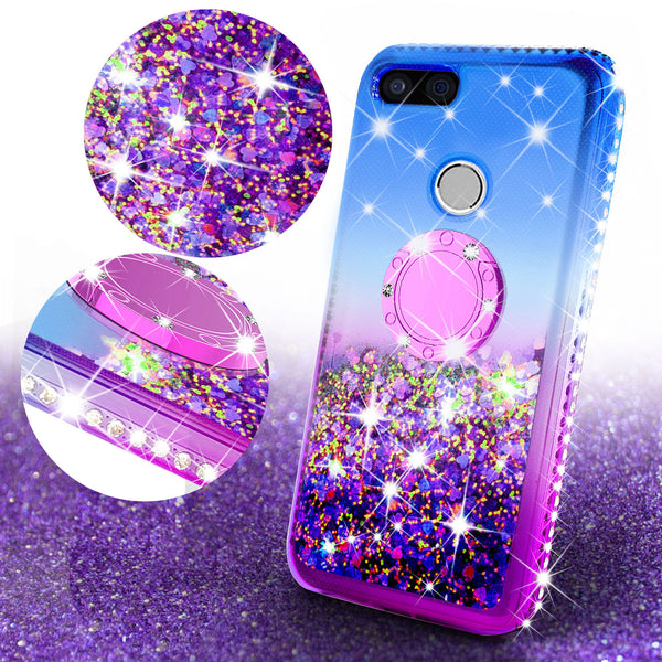 glitter ring phone case for google pixel 3 - blue gradient - www.coverlabusa.com