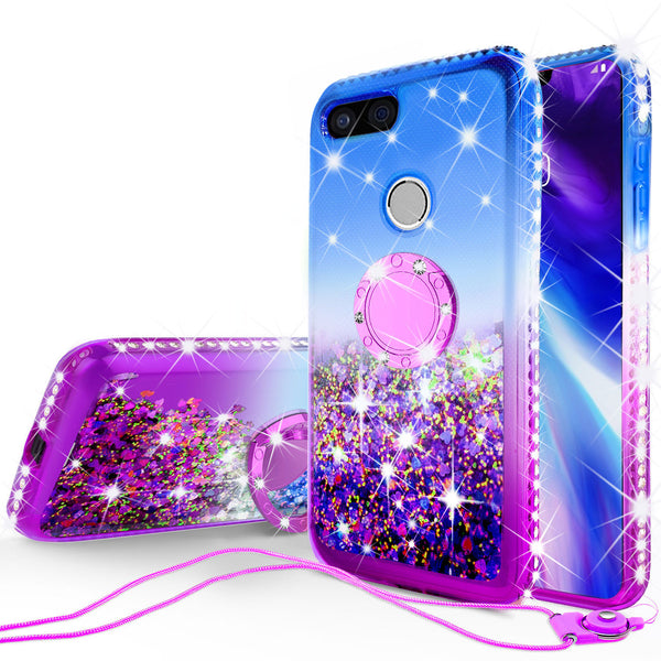 glitter ring phone case for google pixel 3 XL - blue gradient - www.coverlabusa.com