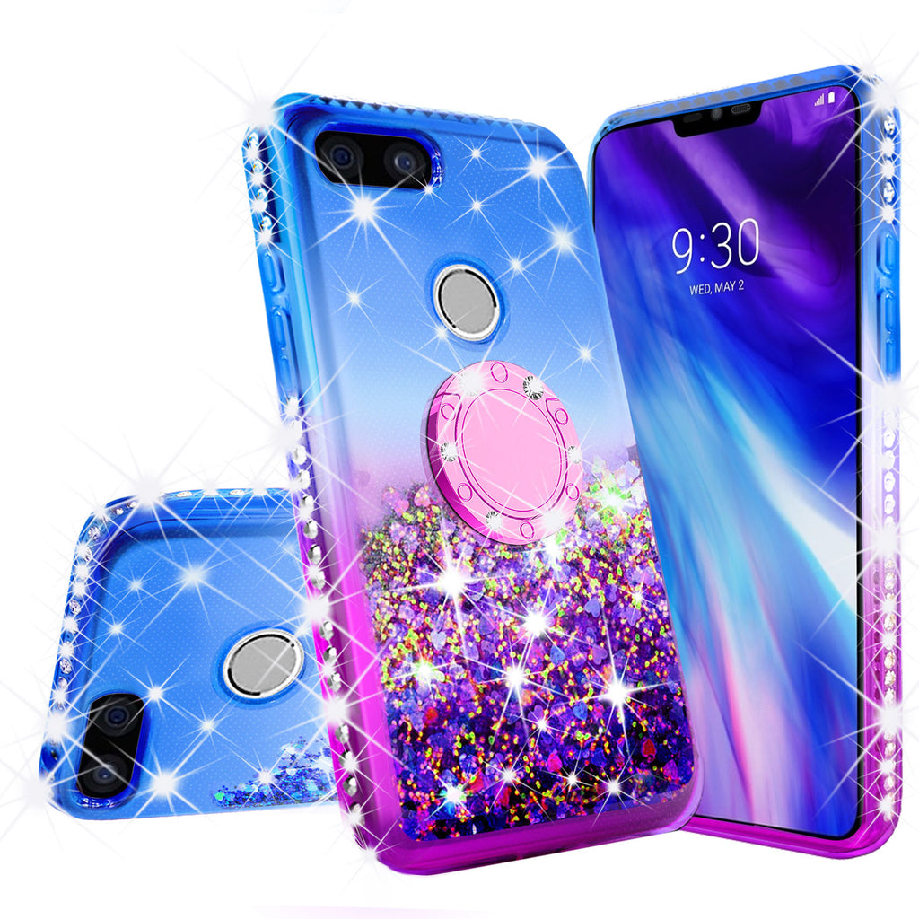 reputable site 0cd8d 17f3a Glitter Phone Case Kickstand Compatible for Google Pixel 3 XL , Pixel 3 XL  Case,Ring Stand Liquid Floating Quicksand Bling Sparkle Protective Girls ...