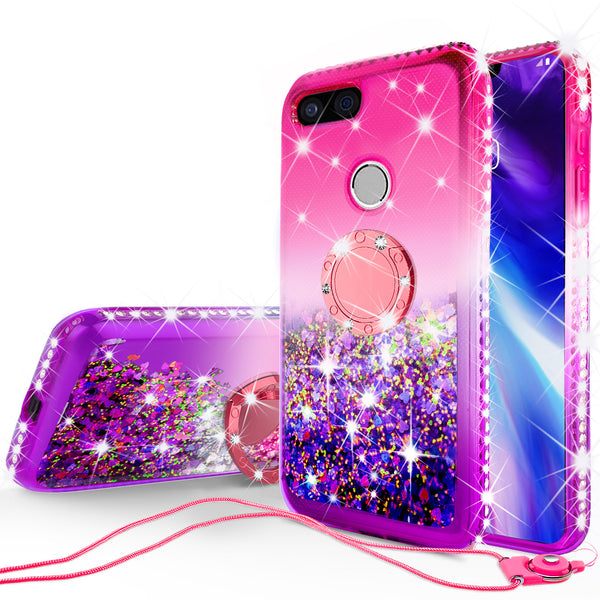 glitter ring phone case for google pixel 3 XL - hot pink gradient - www.coverlabusa.com