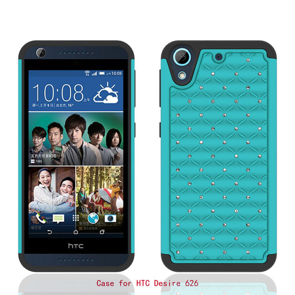 HTC Desire 626 Case - Teal/Black - www.coverlabusa.com