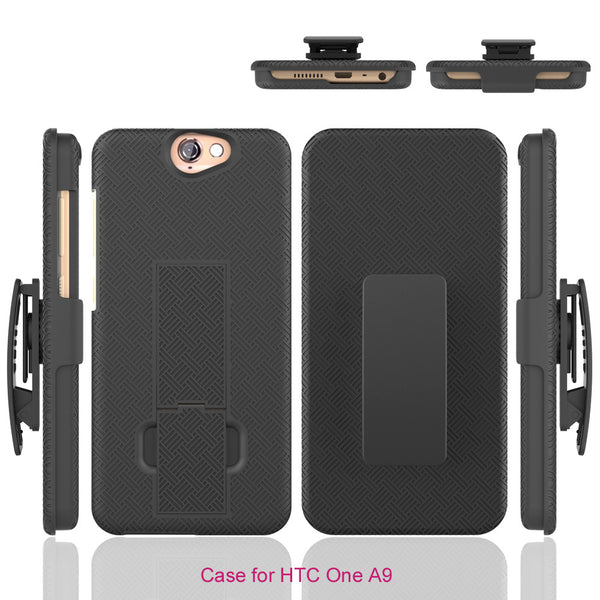 HTC One A9 Case Holster Shell Combo - Black - www.coverlabusa.com