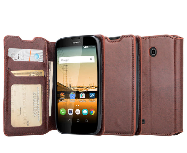 Huawei Union wallet case - Brown - www.coverlabusa.com