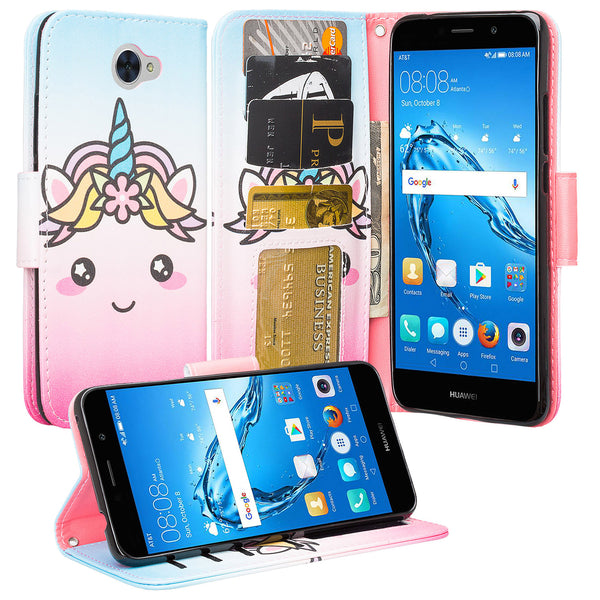 Huawei Ascend XT 2 Wallet Case - White Unicorn - www.coverlabusa.com