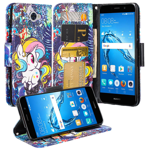 Huawei Ascend XT 2 Wallet Case - Rainbow Unicorn - www.coverlabusa.com