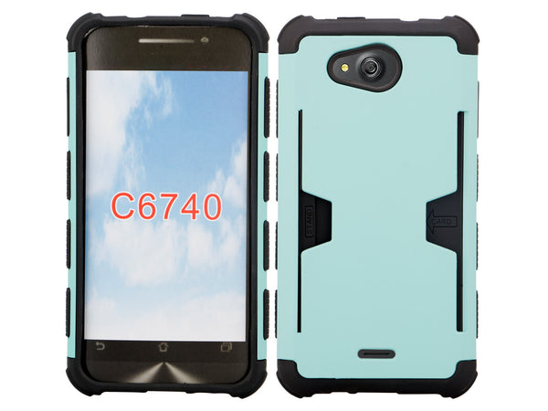 Kyocera Hydro Wave case - teal hybrid with card slot - www.coverlabusa.com
