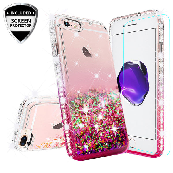 clear liquid phone case for apple iphone 8 - hot pink - www.coverlabusa.com
