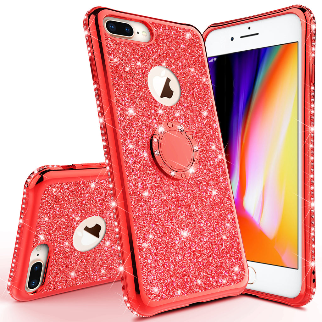 Glitter Cute Phone Case Girls Kickstand Compatible for Apple iPhone 7 – Coverlab