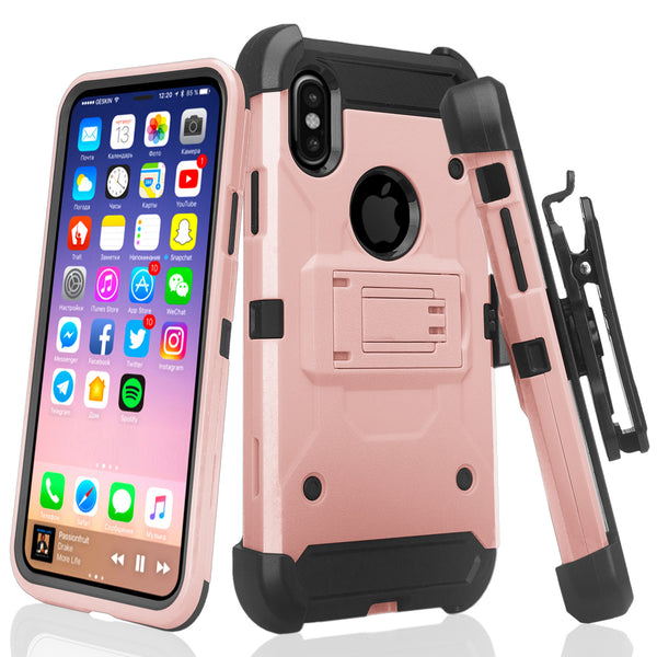 Apple Iphone X, iPhone 10 holster case - rose gold - www.coverlabusa.com