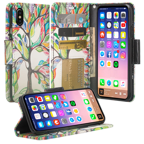 apple iphone x, iphone 10 wallet case - tree - www.coverlabusa.com