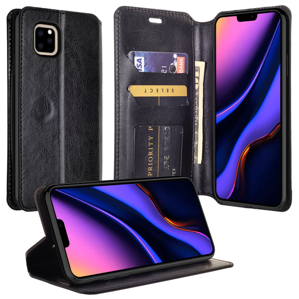 apple iphone 11 wallet case - black - www.coverlabusa.com