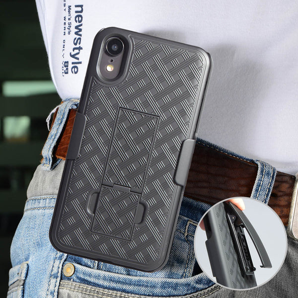 apple iphone xr holster shell combo case - www.coverlabusa.com