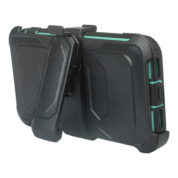 Apple iPhone XS Max heavy duty holster case - teal - www.coverlabusa.com