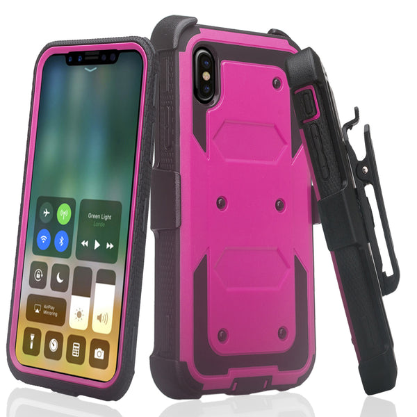 Apple iPhone 11 pro max heavy duty holster case - purple - www.coverlabusa.com