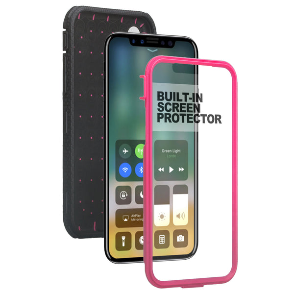 Apple iPhone 11 heavy duty holster case - hot pink - www.coverlabusa.com