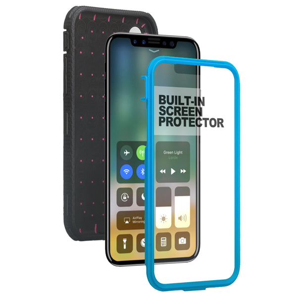 Apple iPhone 11 pro max heavy duty holster case - blue - www.coverlabusa.com