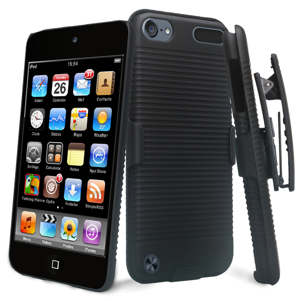 new product c77f7 cf1df Apple iPod Touch 5 / Touch 6 Case, Slim Rotating Swivel Clip Rugged Holster  Shell Combo Case Cover for iPod Touch 5 / Touch 6