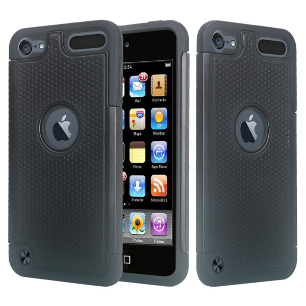 apple ipod touch 5 heavy duty dual layer armored protective hybrid case - www.coverlabusa.com