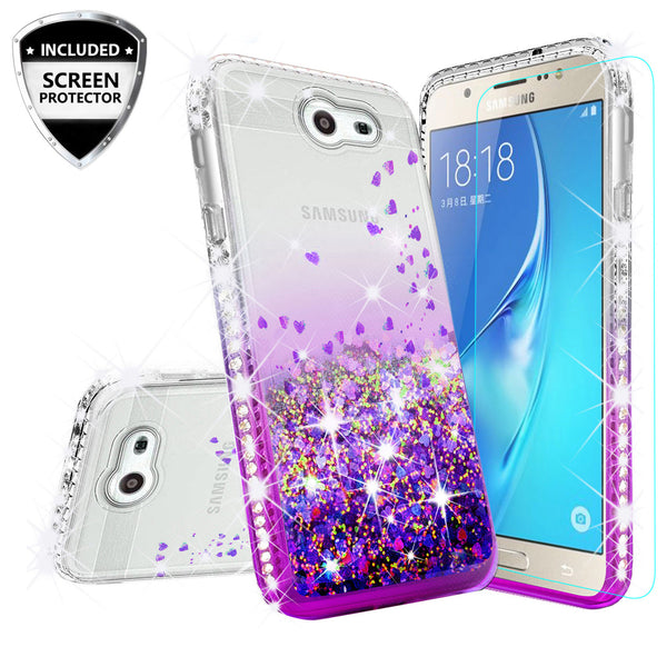 clear liquid phone case for samsung galaxy j3 2017 - purple - www.coverlabusa.com