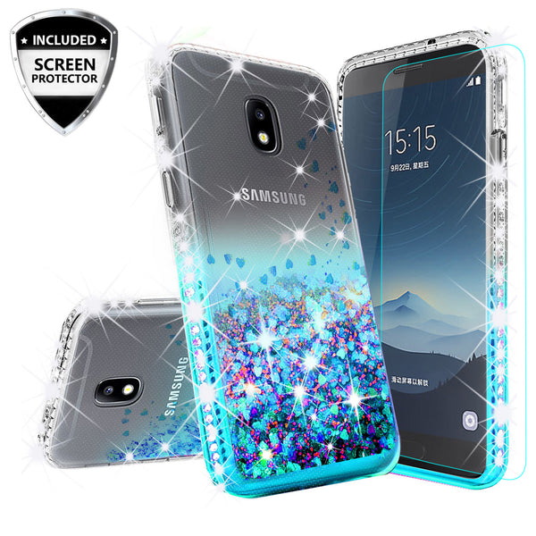 clear liquid phone case for samsung galaxy j3 (2018) - teal - www.coverlabusa.com