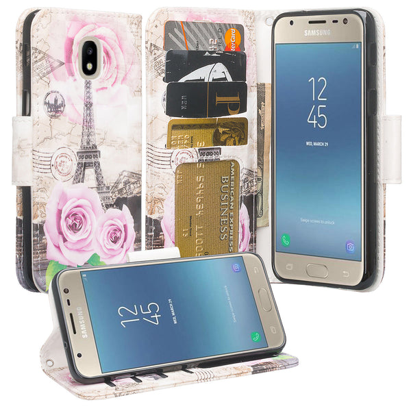 Samsung Galaxy J3 (2018) Wallet Case - paris - www.coverlabusa.com