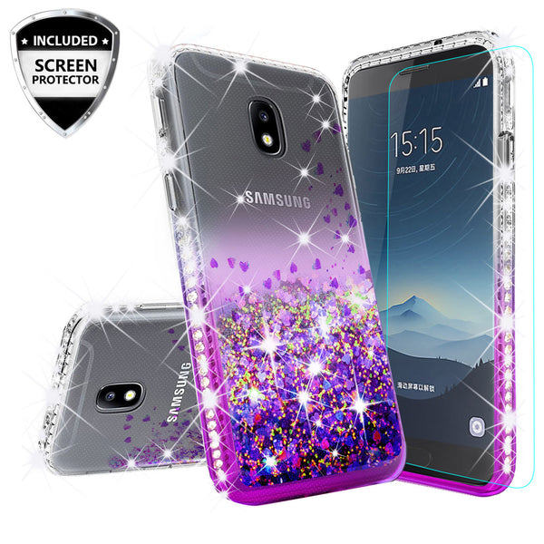 clear liquid phone case for samsung galaxy j3 (2018) - purple - www.coverlabusa.com