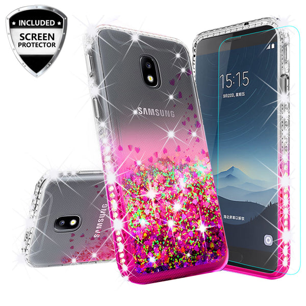 clear liquid phone case for samsung galaxy j3 (2018) - hot pink - www.coverlabusa.com