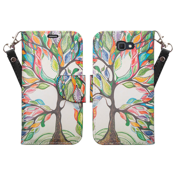 samsung  Galaxy j5 prime leather wallet case - vibrant tree - www.coverlabusa.com