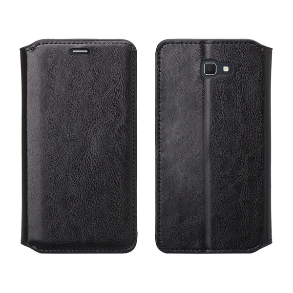 samsung  Galaxy j5 prime leather wallet case - black - www.coverlabusa.com