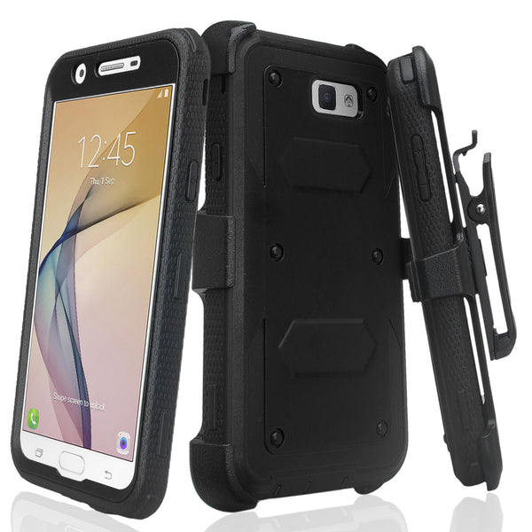 galaxy j7(2017) heavy duty holster case - black - www.coverlabusa.com