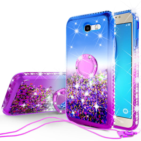glitter ring phone case for samsung galaxy j7 2017 - blue gradient - www.coverlabusa.com