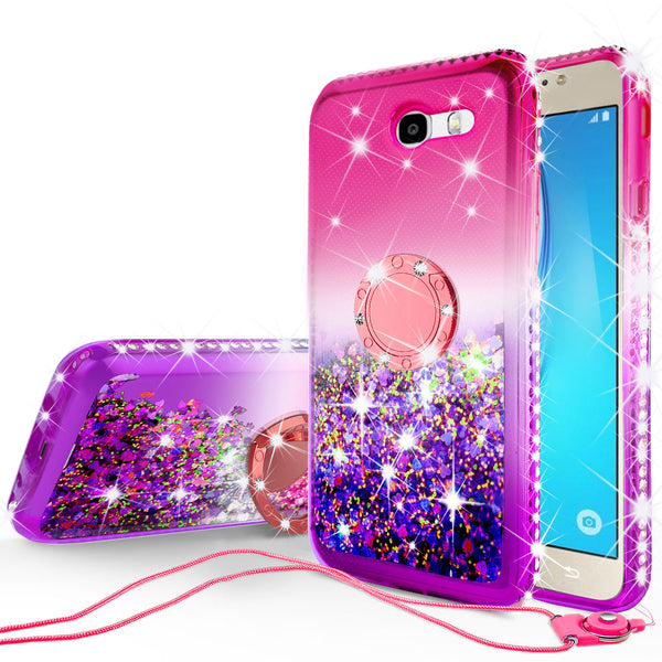 glitter ring phone case for samsung galaxy j7 2017 - pink gradient - www.coverlabusa.com