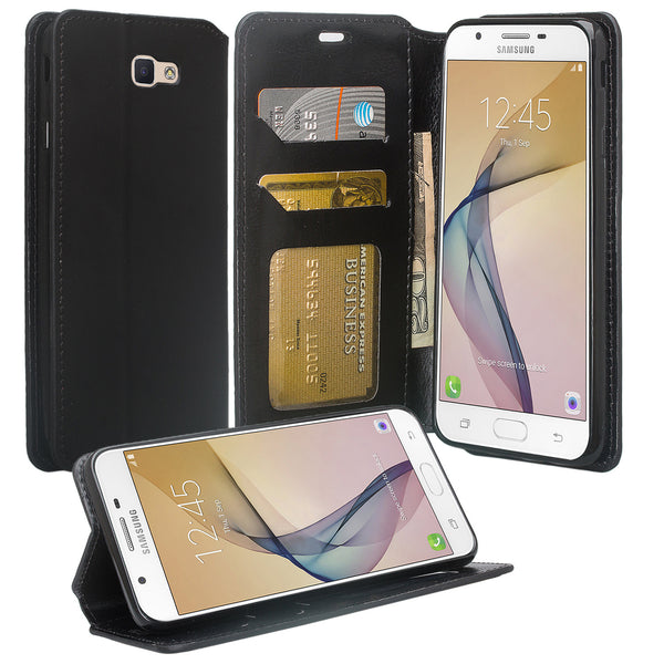 galaxy j7 prime wallet case - black - www.coverlabusa.com