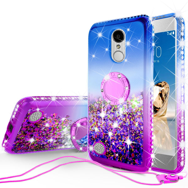 glitter ring phone case for lg aristo - blue gradient - www.coverlabusa.com