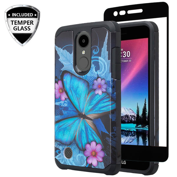 lg aristo 3 hybrid case - blue butterfly - www.coverlabusa.com