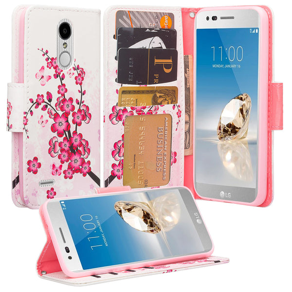 LG Aristo 2 Wallet Case - Cherry Blossom - www.coverlabusa.com