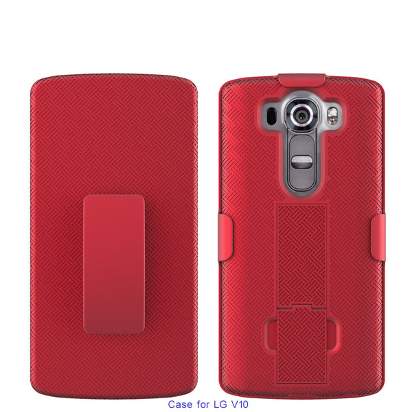 LG V10 Case Holster Shell Combo - Red - www.coverlabusa.com
